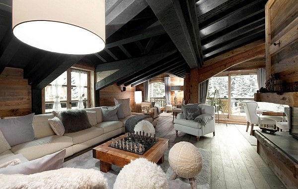 Chalet le petit chateau in the french alps promises to pamper your senses in - Deco style chalet moderne ...