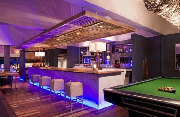 view in gallery home bar with pool table attempts to recreate a pub atmosphere