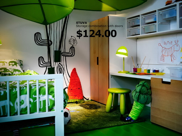 ikea kids rooms catalog shows vibrant and ergonomic design ideas. Black Bedroom Furniture Sets. Home Design Ideas