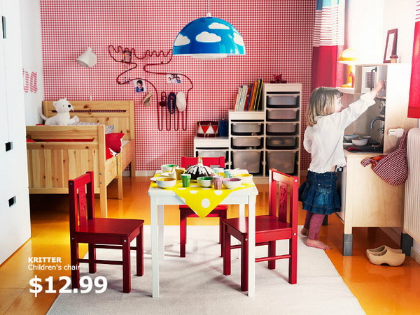 Ikea kids rooms catalog shows vibrant and ergonomic design for Teenage playroom design ideas