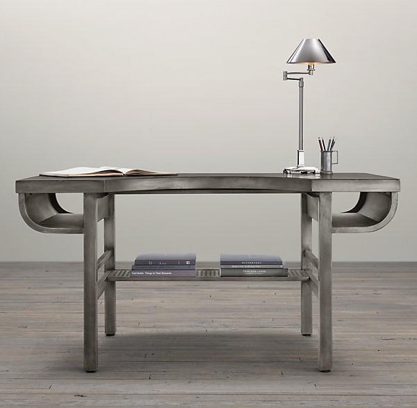Industrial metal desk