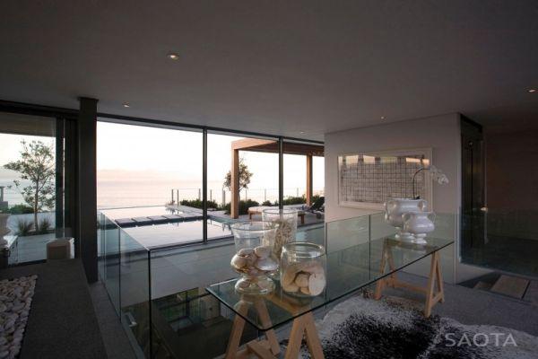 Interiors with lavish use of glass