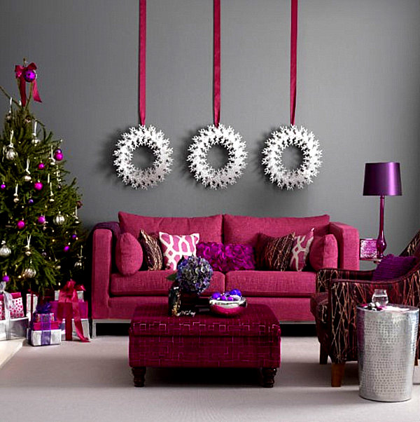 rich tones of christmas - Interior Christmas Decorating Ideas