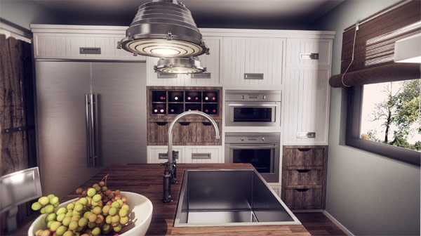 Kitchen countertop with ample space