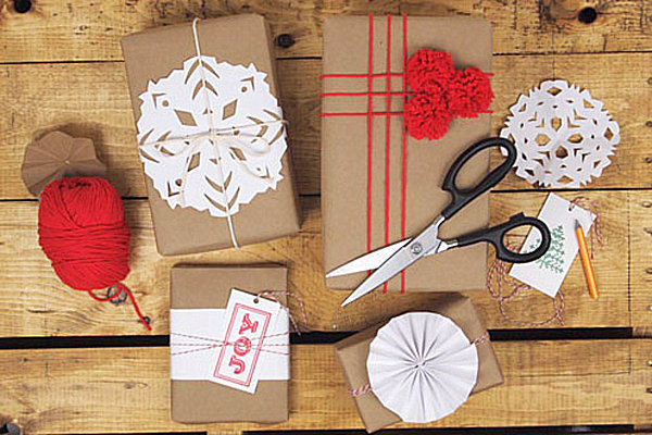 Stylish holiday gift wrap ideas for Christmas craft wrapping paper