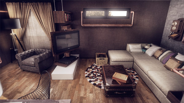 Living room filled with ample natural ventilation