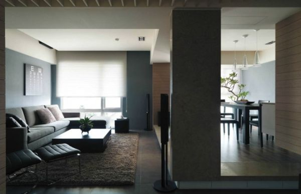 Living room of the semi-minimalist home