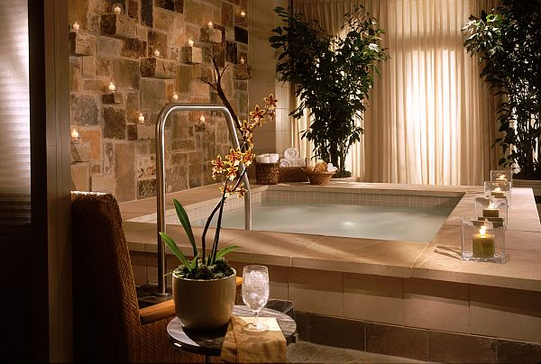 Creating an indoor luxury spa room at home for How to make a beauty salon at home