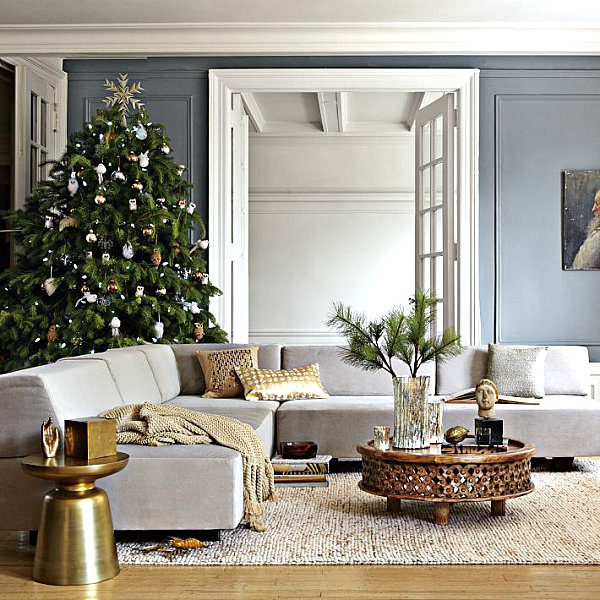metallic holiday decor