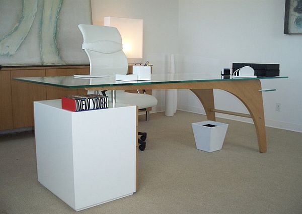 view in gallery modern desk and credenza - Modern Desk Design