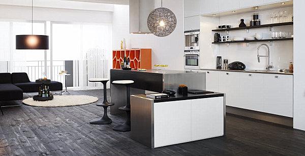 View In Gallery Modern Scandinavian Kitchen With Sculptural Elements