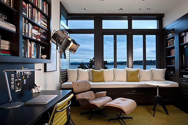 Modern chic window seating