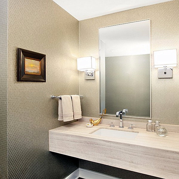Sconce lighting for the modern home for Contemporary bathroom wall sconces