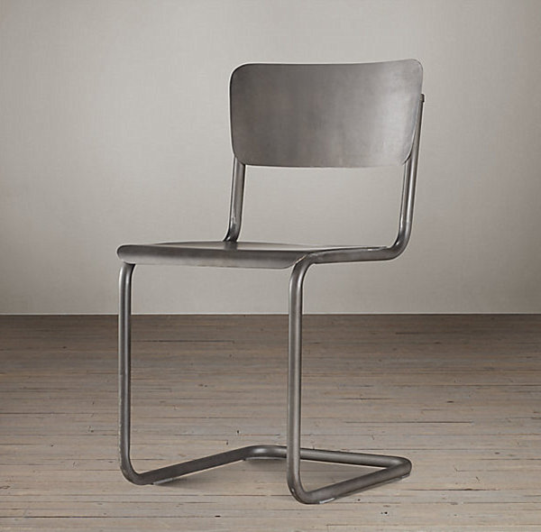 Modern metal schoolhouse chair