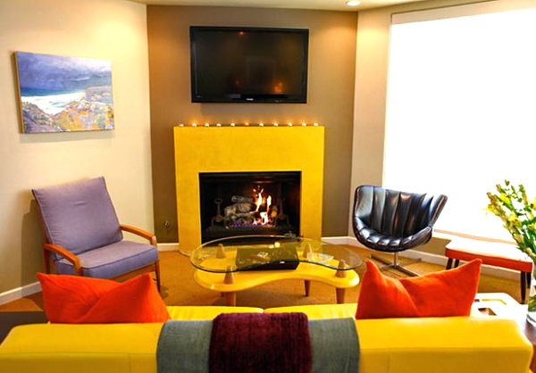 Vivid design top color trends for 2013 Mustard living room ideas