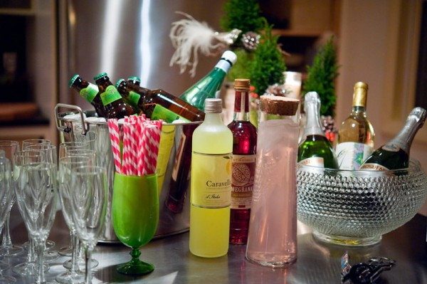 New Year's Eve drink bar
