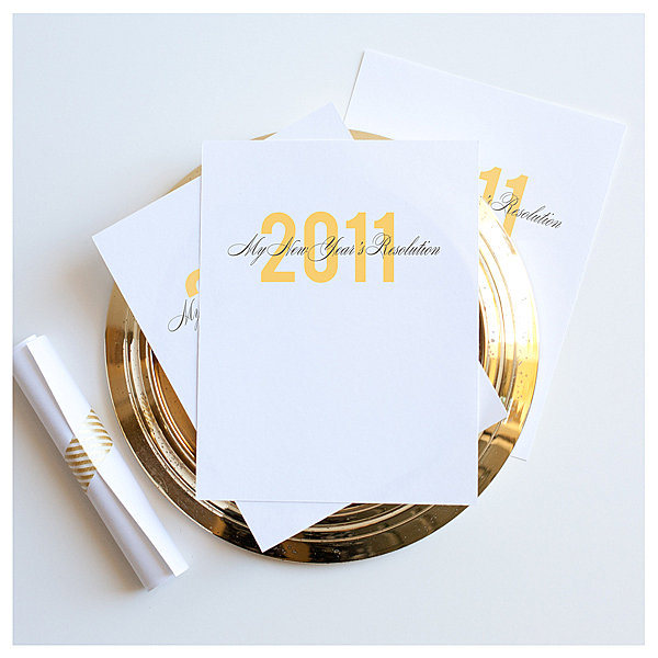 New Year's resolution cards