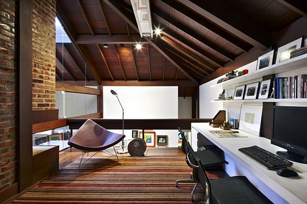 Old renovated modern contemporary living space design
