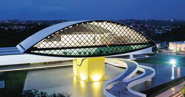 Architecture Of Oscar Niemeyer together with Geomag together with 20 Most Beautiful Places In Brazil likewise File Museu Oscar Niemeyer  interior 03 as well Maxxi Museum. on oscar niemeyer museum