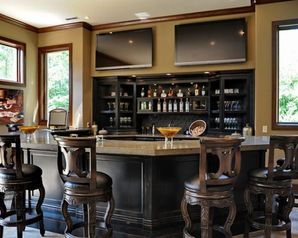Plenty of natural ventilation greet this gracefully designed home bar
