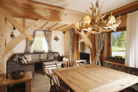 Rustic Italian Apartment Fully Furnished With Wood Is Inviting and Cozy