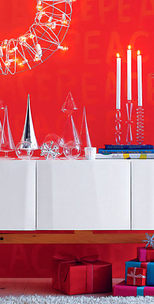 Shiny Christmas tabletop decor