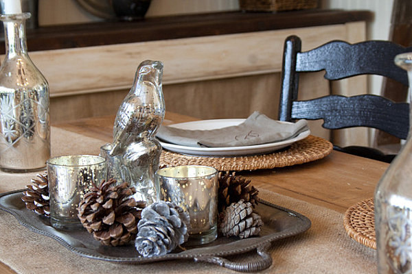 Ordinaire View In Gallery Silver And Wooden Tabletop Christmas Decor
