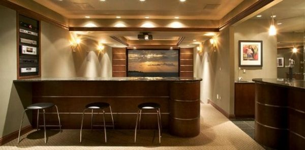 View In Gallery Sleek Home Bar Setting Perfect For The Modern Home