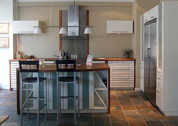 Sleek modern Scandinavian kitchen