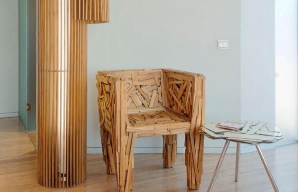 Snazzy chair and table bring a special look to the interiors