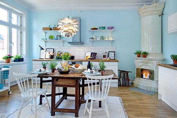 Soothing Scandinavian kitchen