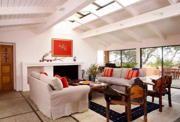 Spacious Living Room: 30 Inspirational Ideas For Living Rooms With Skylights