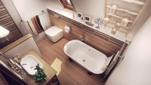 Stoica Mario's design for contemporary bathroom in Romanian home