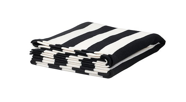 Striped blanket for winter warmth