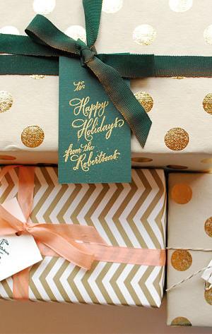 Stunning Christmas gift wrap