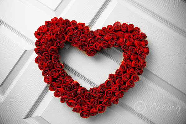 Stunning Duct Tape Rose Valentine's Wreath in Scarlet