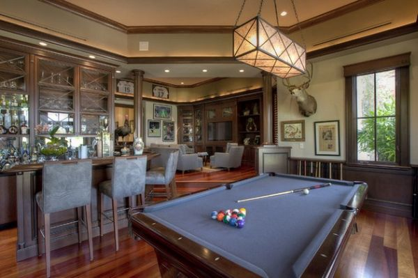 Games rooms living rooms design billiards tables billiards table snooker tables lighting - Stylish home bar ideas ...