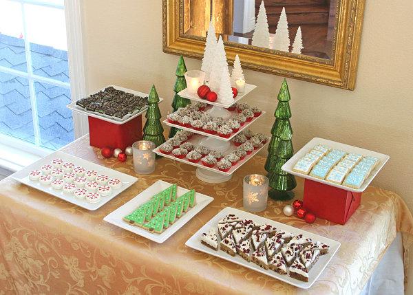 Symmetrical dessert buffet