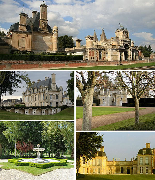 The exterior and grounds of the Chateau dAnet