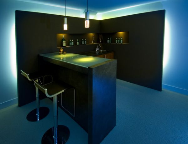 uber sleek japanese modern home bar - Home Bar Designs For Small Spaces