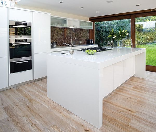 White Kitchen Island Ideas beautiful modern kitchen with island in upscale house breakfast