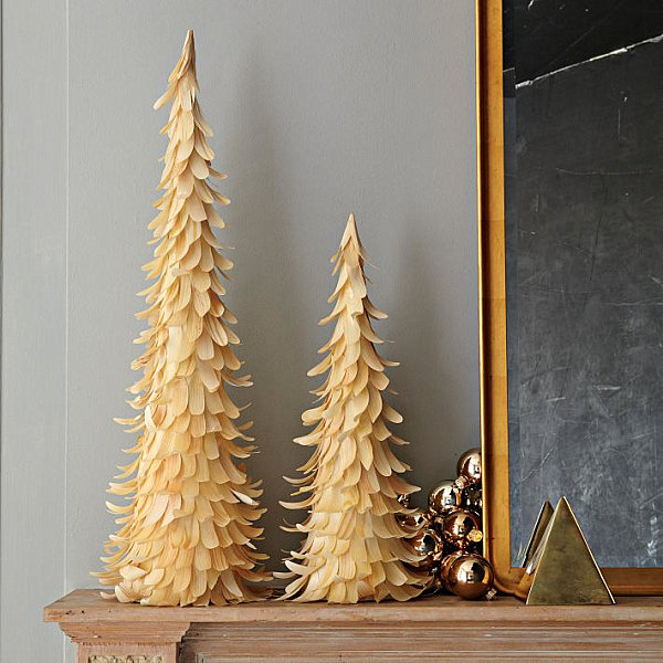 Wood chip Christmas trees