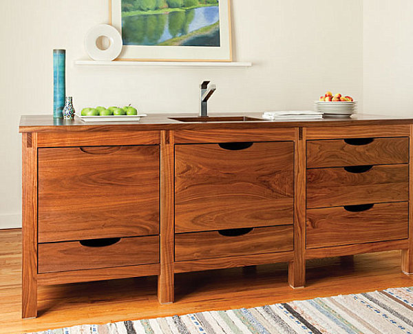 Wooden Scandinavian kitchen