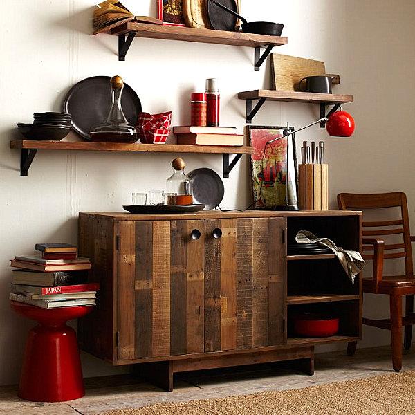 Wooden storage buffet