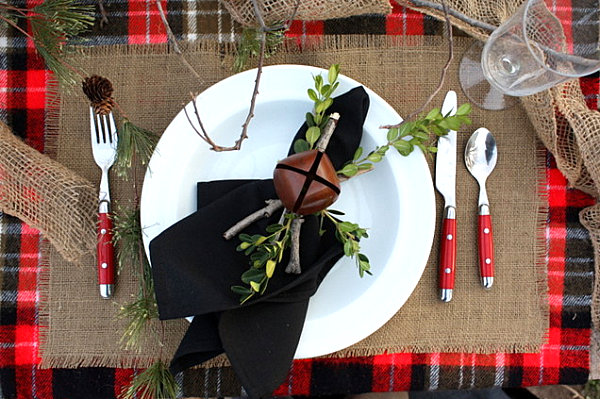 Woodsy Christmas tabletop decor