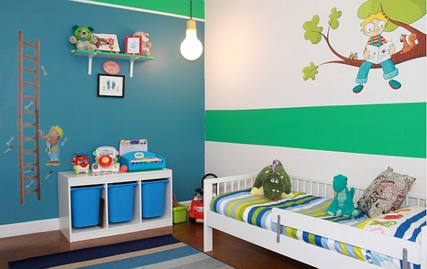 adding emerald elements to a kids room