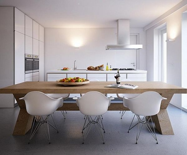 all white kitchen furniture Minimalist Home Captivates with Sleek Design and Ergonomic Form