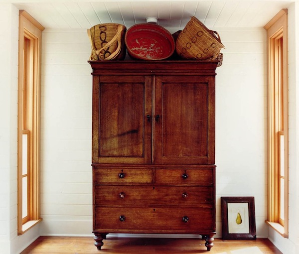 armoire baskets wood