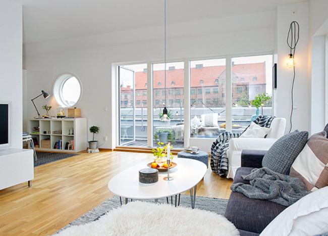 Timeless Design For Modern Scandinavian Attic Apartment
