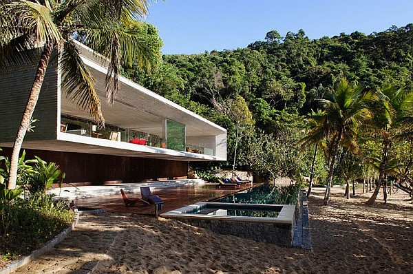 beach house with a pool
